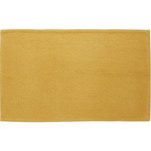 Habitat Spa Cotton Mustard Mustard Yellow Cotton Bath Mat 50 X 80cm, Yellow Yellow, Yellow Yellow