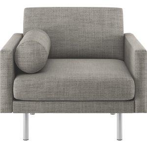 Habitat Spencer Black & White Italian Woven Fabric Armchair, Metal Leg, Black And White, Black And White