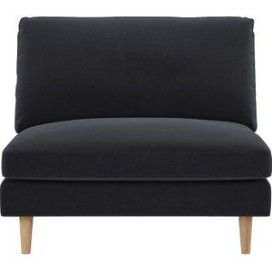 Habitat Teo Charcoal Grey Velvet Armchair, Charcoal, Charcoal