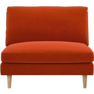 Habitat Teo Orange Velvet Armchair, Orange, Orange