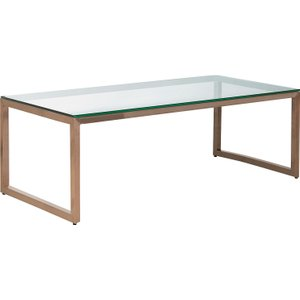 Habitat Tilda Glass Coffee Table With Copper Base, Clear Glass And Copper
