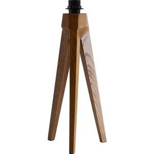 Habitat Tripod Base Walnut Wooden Tripod Table Lamp Base, Walnut