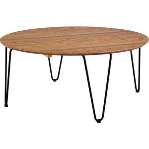 Habitat Tyler Round Ash And Black Metal Coffee Table, Black