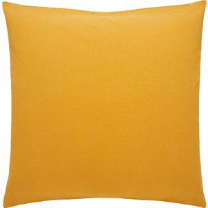Habitat Washed Mustard Yellow Mustard Yellow Stonewashed Square Pair Of Pillowcases, Stonewashed Y Stonewashed Yellow, Stonewashed Yellow