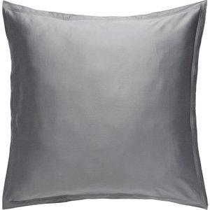 Habitat Washed Sateen Grey Square Pair Of Pillowcases, Grey, Grey