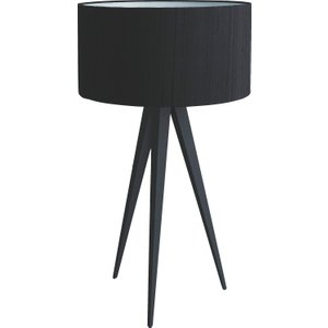 Habitat Yves Black Metal Table Lamp With Black Silk Shade, Black