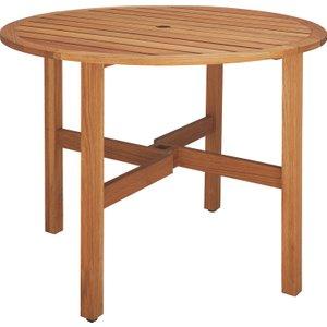 Habitat Zeno Solid Oak 2-4 Seat Round Folding Garden Table, Oak, Oak