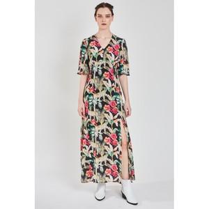 Pyrus Beatrice Silk Maxi Dress - Leopard