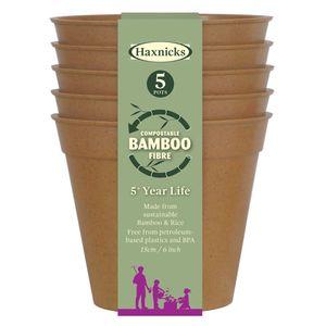 Tildenet Compostable Bamboo Plant Pots