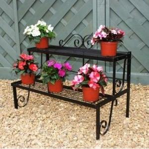 Poppy Forge Plant Pot Stand, 2 Shelves