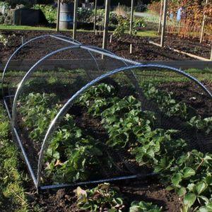 Gardening Naturally Portable Round Aluminium Cloche Tunnel Kits