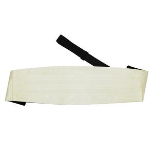 Ivory Plain Satin Cummerbund