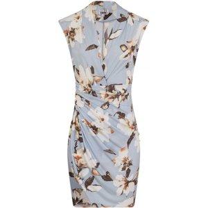 Divine Blossom Wrap Dress Size: 10 Uk, Colour: Blue Print S8gf01163bl10