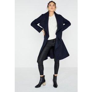 Girls On Film Abbott Wrap Coat In Navy Size: 12 Uk, Colour: Navy A8gf0601ny12