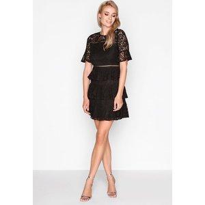 Girls On Film Black Lace Dress Size: 16 Uk, Colour: Black A7gf0196bk16