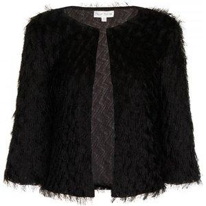 Girls On Film Black Mini Fringe Jacket Size: 16 Uk, Colour: Black Ss16 Pddb002 9916