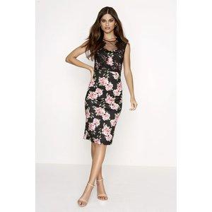 Girls On Film Black Print Bodycon Dress Size: 6 Uk, Colour: Print / Bl A7gf0165bk6