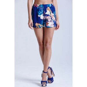 Girls On Film Floral Blue Print Shorts Size: 8 Uk, Colour: Print Ss15 Gfen010 248
