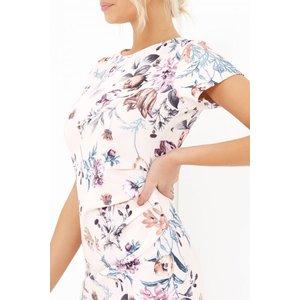 Girls On Film Floral Print Dress  Size: 8 Uk, Colour: Nude S7gf0130mu8