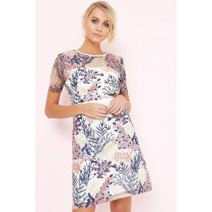 Girls On Film Floral Print Embroidered Dress Size: 10 Uk, Colour: Flor S7gf0125mu10