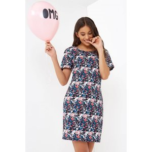 Girls On Film Floral Print Tunic Dress Size: 6 Uk, Colour: Floral Prin Aw16 Gfab002 246