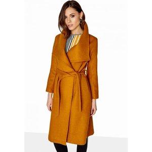 Girls On Film Mustard Coat Size: 10 Uk, Colour: Mustard A7gf0619yl10