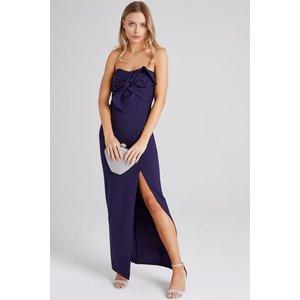 Girls On Film Rachel Navy Bow Maxi Dress Size: 10 Uk, Colour: Navy S9gf0104gr10