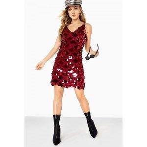 Girls On Film Strappy Cami Dress Size: 8 Uk, Colour: Burgundy A7gf0217rd8