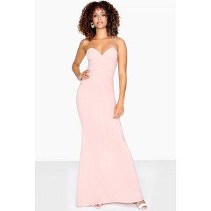 Girls On Film Taylor Bandeau Maxi Dress Size: 12 Uk, Colour: Pink S8gf0175pk12