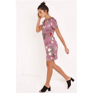 Girls On Film Tulip Print Shift Dress With Keyhole Size: 16 Uk, Colour Aw16 Gfab013 9916