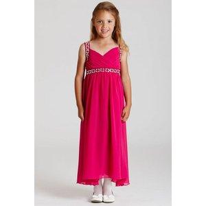Little Misdress Pink Chiffon Maxi Dress Size: 5-6 Yrs, Colour: Pink Aw15 Kac015 505 6