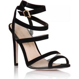 Little Mistress Black Mesh Insert Peep Toe Heels Size: Footwear 5 Uk, Ss15 Ssg011 995