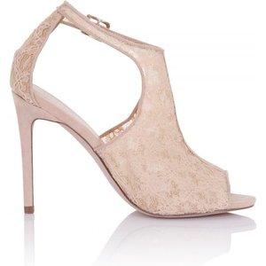 Little Mistress Footwear Gaia Nude Cut Out Shoe Boot Size: Footwear 3 Ss16 Ssg006 453