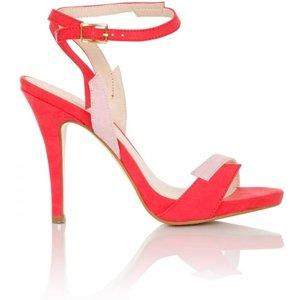 Little Mistress Footwear Lightning Pink Contrast Sandals Size: Footwea Ss16 Pdsg012 506