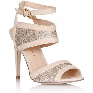 Little Mistress Nude Glitter Insert Peep Toe Heels Size: Footwear 4 Uk Ss15 Ssg010 454