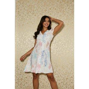 Paper Dolls Calver White Spot-print Button Through Swing Dress Size: 1 S20pd0106wh16