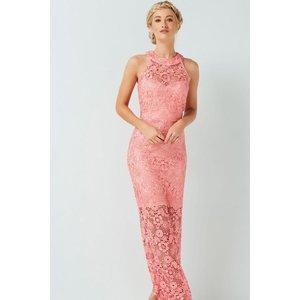 Paper Dolls Coral Maxi Dress Size: 12 Uk, Colour: Coral S7pd0127pk12
