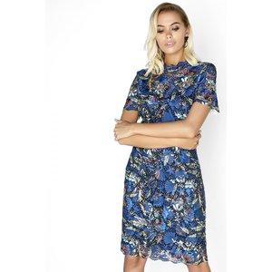 Paper Dolls Floral Lace Dress Size: 12 Uk, Colour: Print A7pd0178bl12