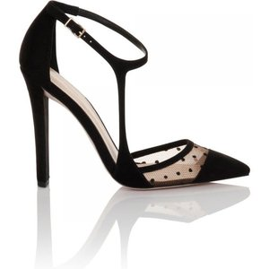 Paper Dolls Footwear Black Dot Mesh Side Bar Strap Shoes Size: Footwea Aw15 Pdsf013 995