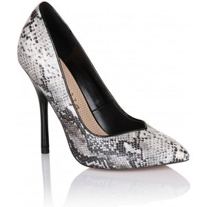 Paper Dolls Grey Snakeskin Pointed Court Shoe Size: Footwear 3 Uk, Col Ss15 Pdsf008 243