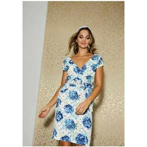 Paper Dolls Hackney Blue Floral-print Belted Dress Size: 14 Uk, Colour S20pd0113bl14