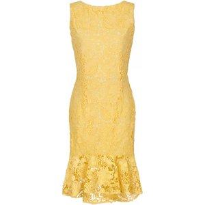 Paper Dolls Lemon Peplum Dress Size: 16 Uk, Colour: Lemon S8pd0158yl16