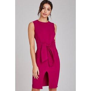 Paper Dolls Lincoln Magenta Tie-waist Pencil Dress Size: 12 Uk, Colour A9pd0101pr12