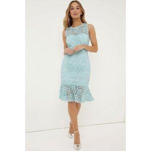 Paper Dolls Mint Peplum Dress Size: 12 Uk, Colour: Mint S7pd0159gr12