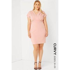 Paper Dolls Pink Kimono Dress Size: 20 Uk, Colour: Pink S7pc0107pk20
