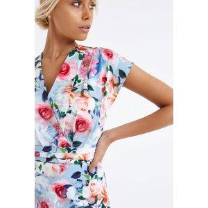 Paper Dolls Print Wrap Dress Size: 16 Uk, Colour: Print S7pd0119mu16
