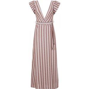 Pucci Plunge Maxi Dress In Metallic Stripe Size: S/m, Colour: Print A8tr0103pks/m