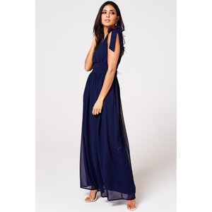 Rock N Roll Bride Aries Navy Plunge Maxi Dress Size: 8 Uk, Colour: Nav S9lm0129ny8