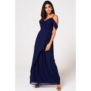 Rock N Roll Bride Cameo Navy Draped Maxi Dress Size: 18 Uk, Colour: Na S9lm0125ny18