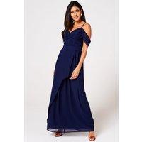 Rock N Roll Bride Cameo Navy Draped Maxi Dress Size: 14 Uk, Colour: Na S9lm0125ny14